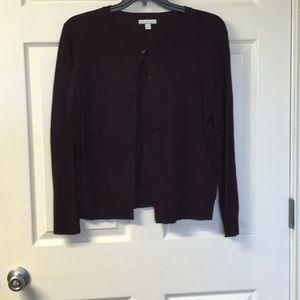 New York and Co Cardigan sz XL wine color